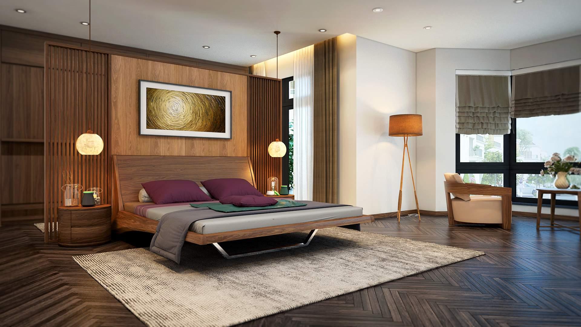 những căn phòng ngủ đẹp hiện đại thiết thực
