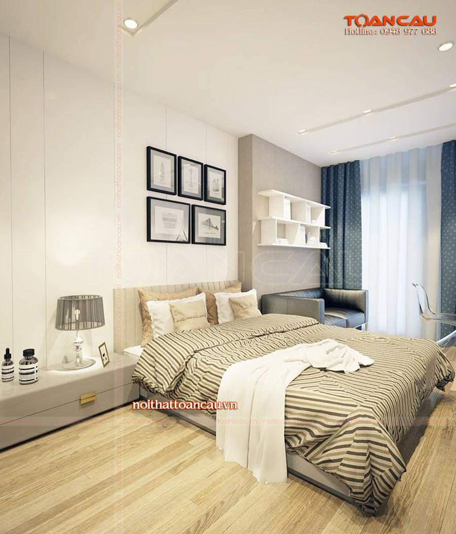 các mẫu thiết kế phòng ngủ đẹp với giường ngủ ấm áp