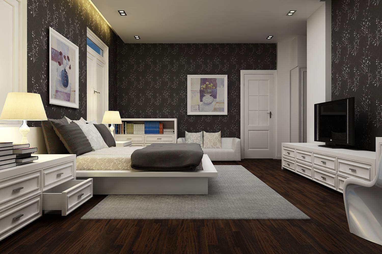 gam màu trầm cho thiết kế nội thất phòng ngủ