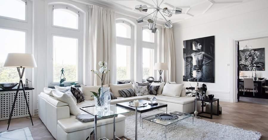 Thiết kế nội thất biệt thự hiện đại đẹp nhất thế giới gam màu nhã nhặn