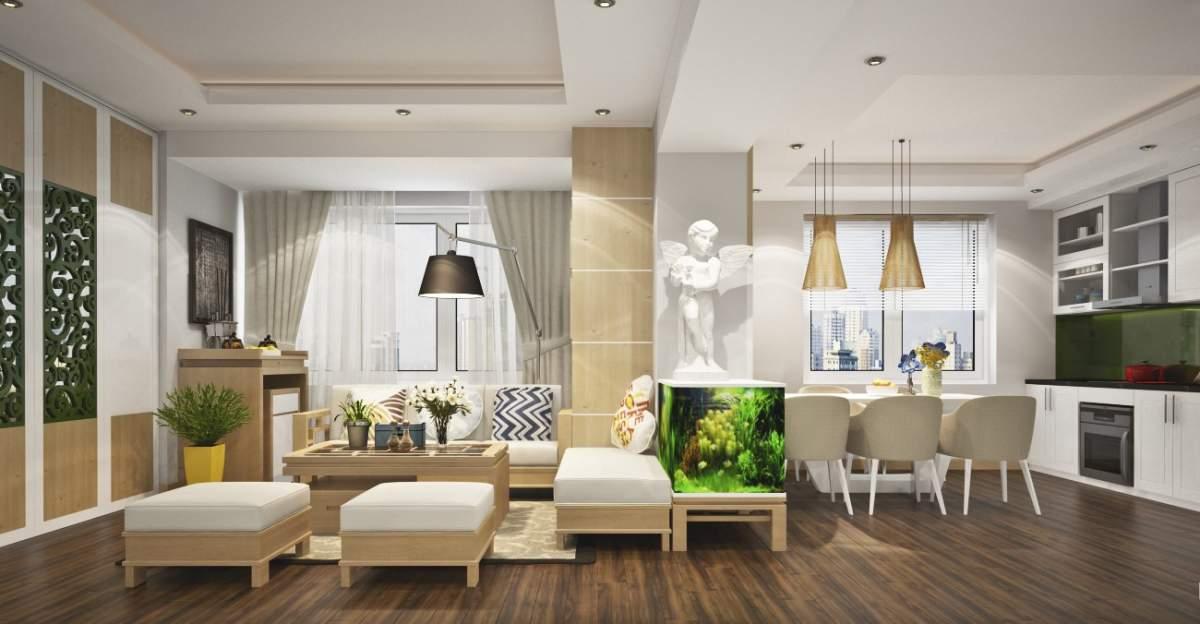 nội thất cho chung cư nhỏ với những bài trí nội thất gọn gàng