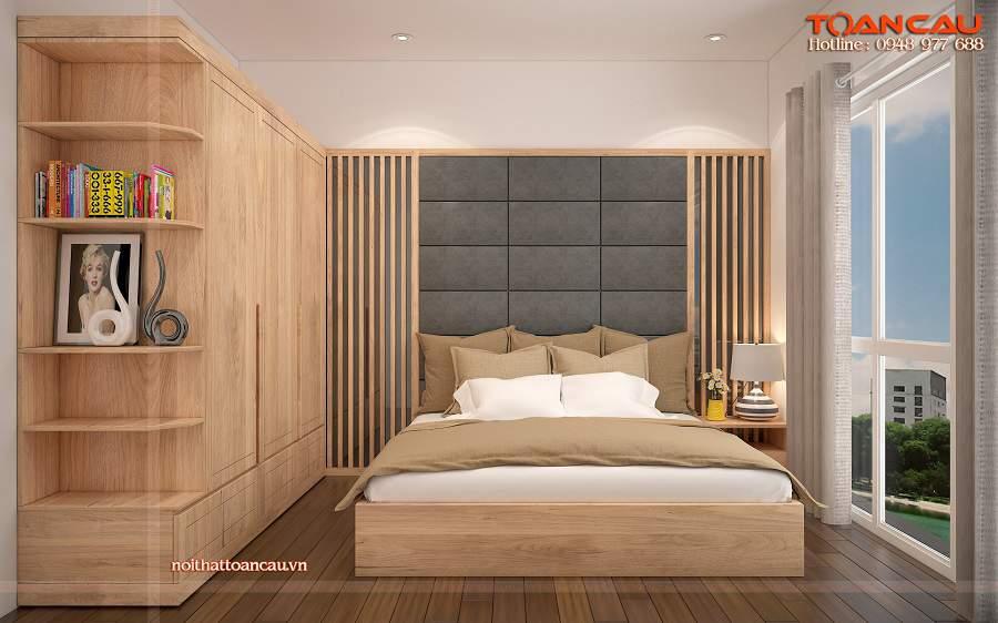 Mẫu thiết kế phòng ngủ gỗ sồi tự nhiên đẹp và sang chảnh