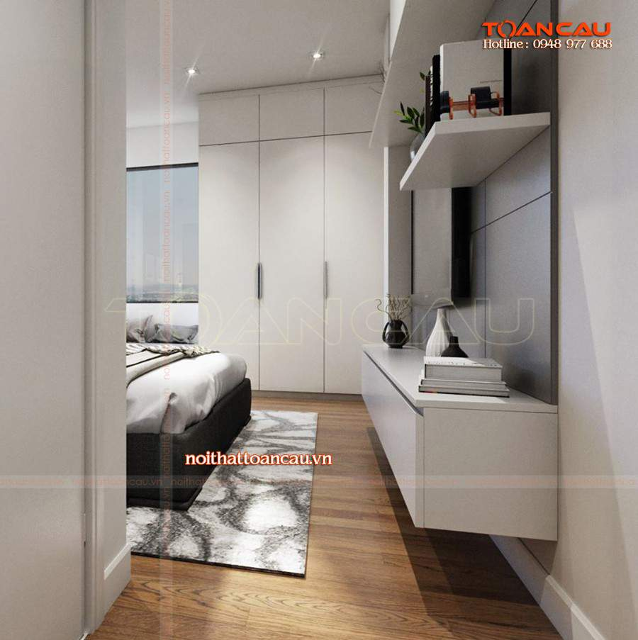Nội thất phòng ngủ màu trắng đẹp thiết thực