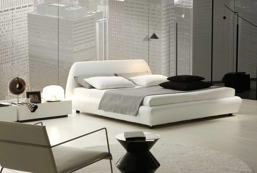 thiết kế phòng ngủ nhỏ màu trắng