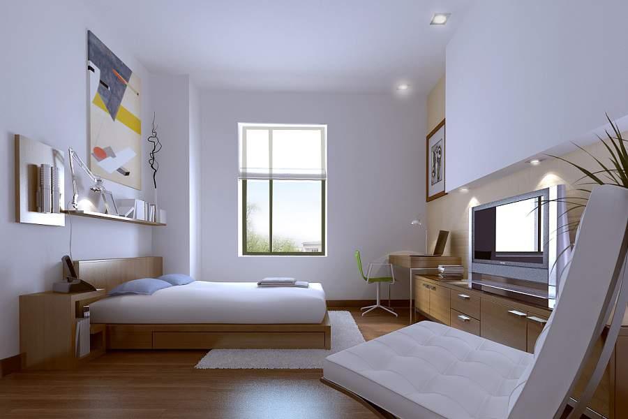 Nội thất phòng ngủ màu trắng xinh nhất hiện nay