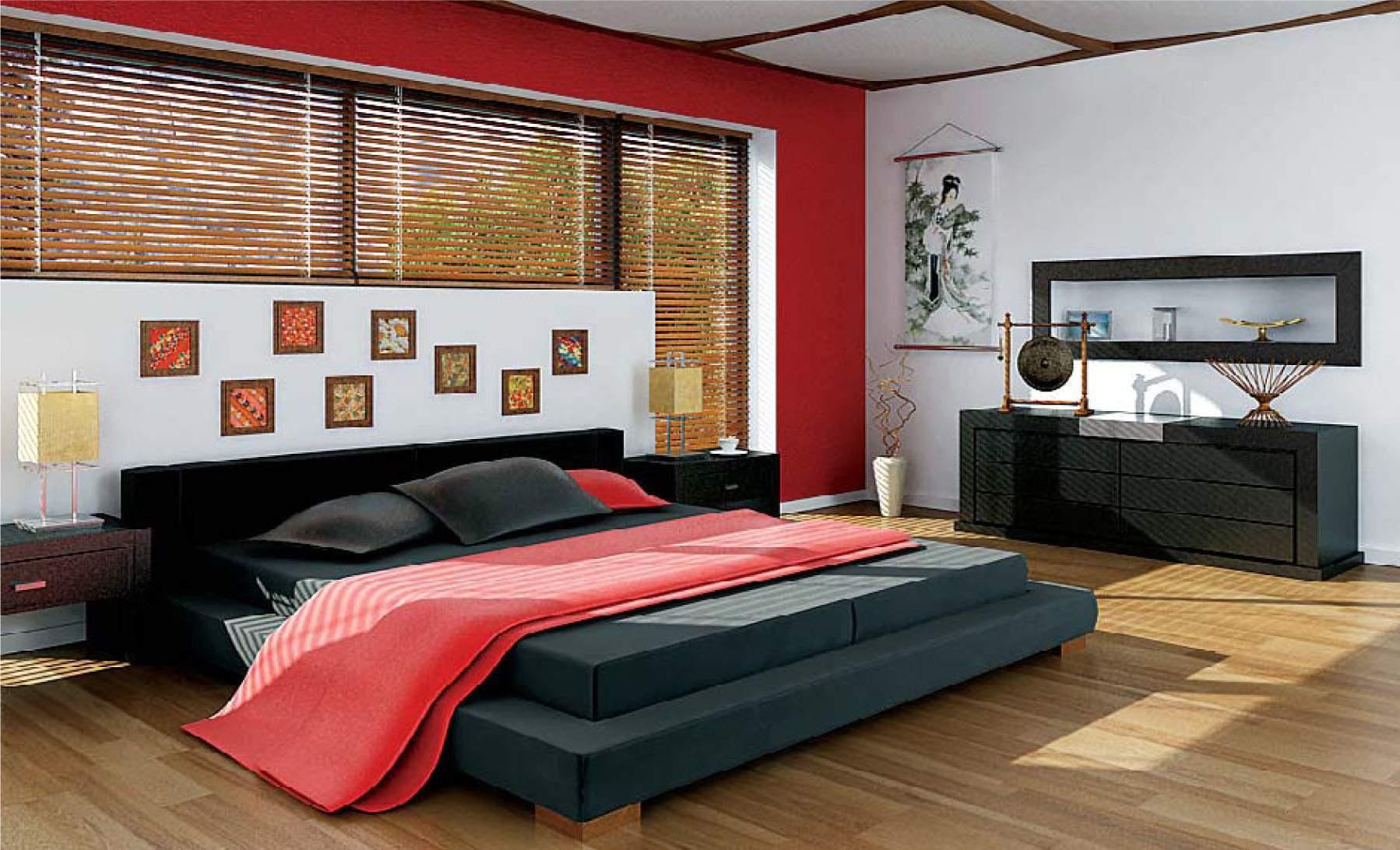 phong cách thiết kế nội thất hiện đại cho phòng ngủ gam màu rực rỡ