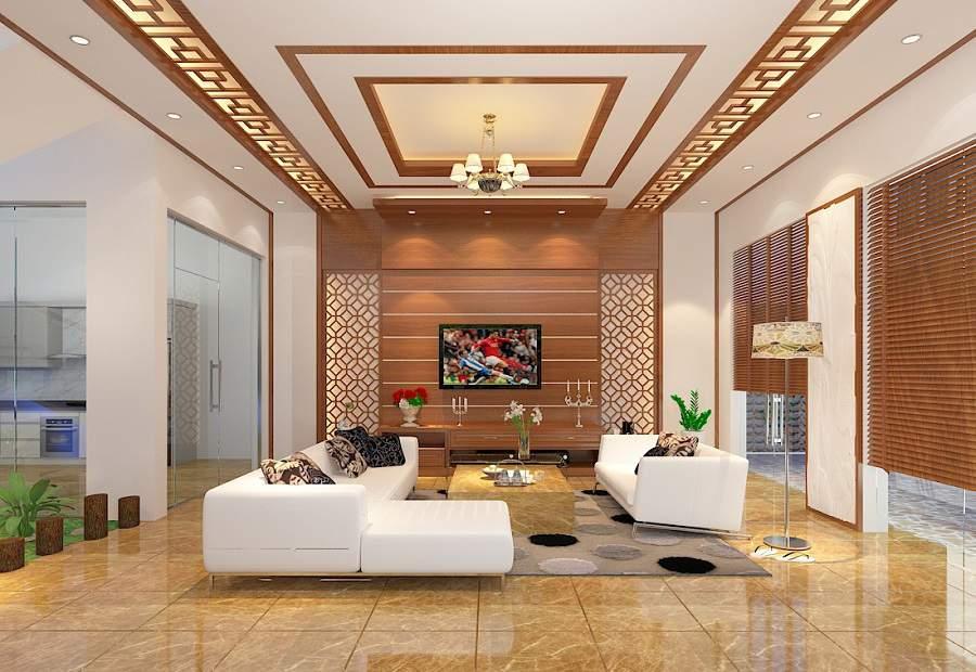 Phòng khách nhà ống 5m hiện đại cho nhà xinh
