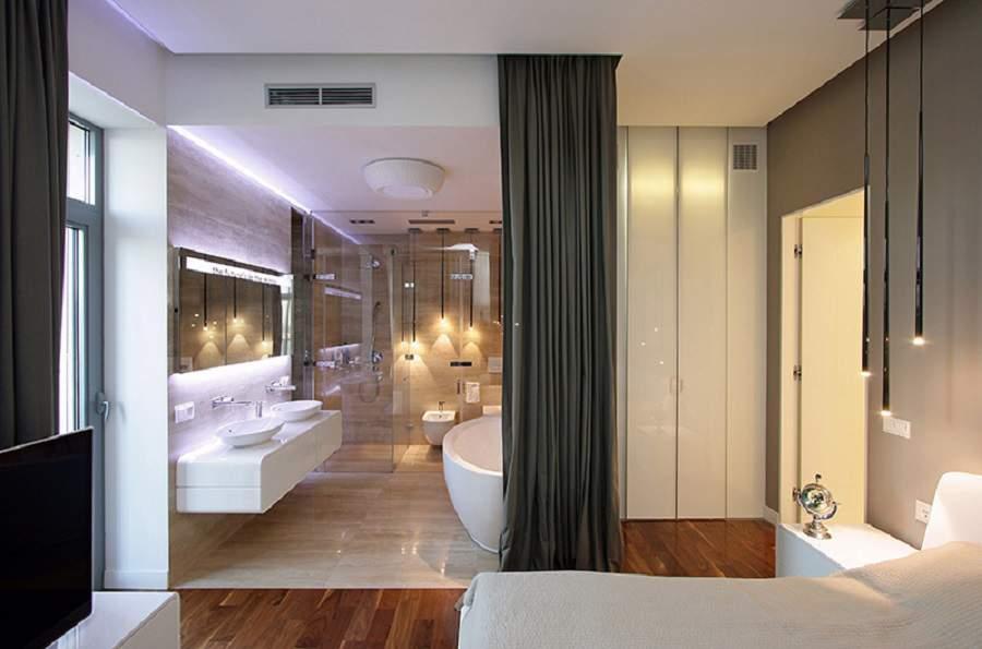 Phòng ngủ có nhà vệ sinh đẹp