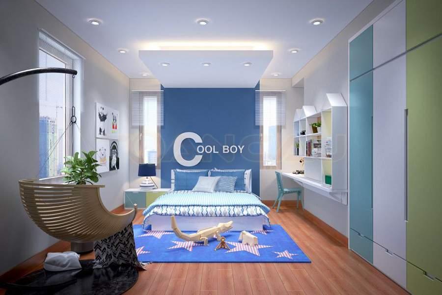 Tư vấn thiết kế nhà phố 5x20 cho phòng ngủ bé trai
