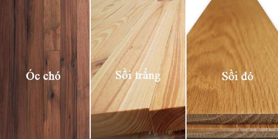 So sánh gỗ óc chó và gỗ sồi