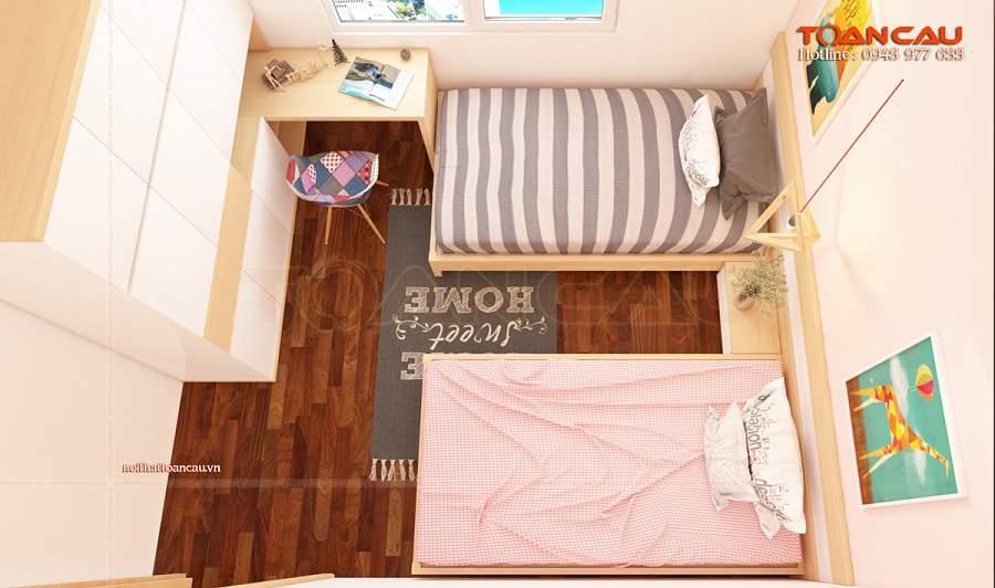 Cách kê giường cho phòng ngủ nhỏ