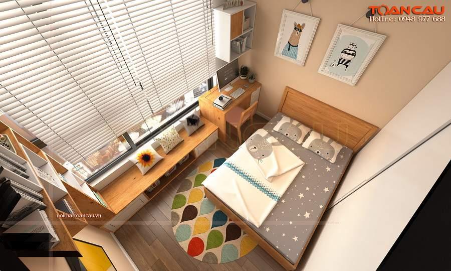 Thiết kế nội thất phòng ngủ nhỏ 10m2 hiện đại