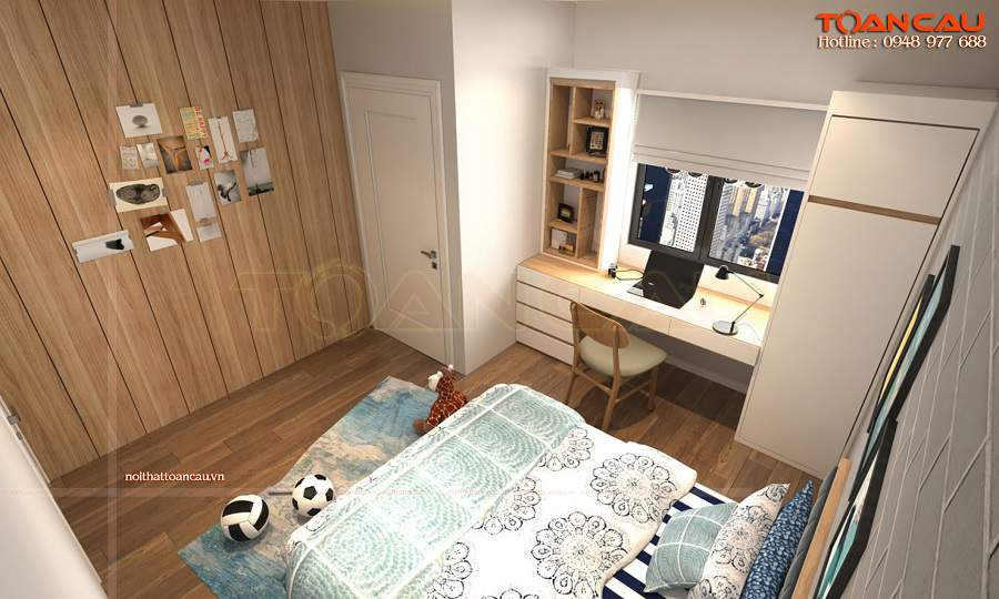 Thiết kế nội thất phòng ngủ nhỏ 10m2 nên chọn gam màu nhã nhặn
