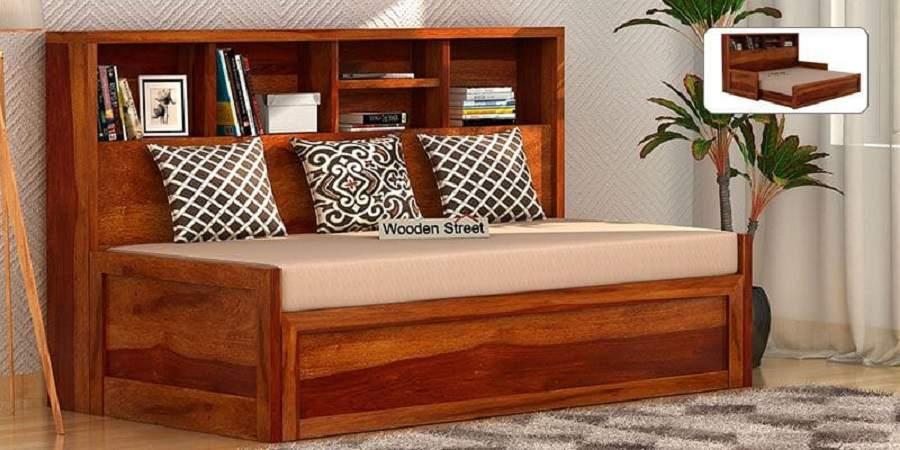 Mẫu ghế sofa giường gỗ tự nhiên bề đẹp với thời gian