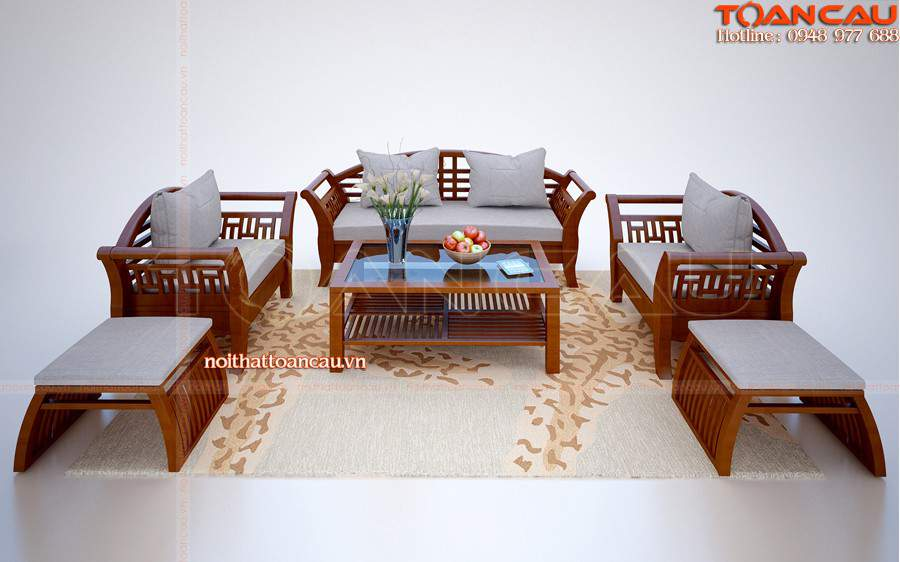 Gõ đỏ được dùng để thiết kế nội thất bàn ghế sang trọng, hiện đại
