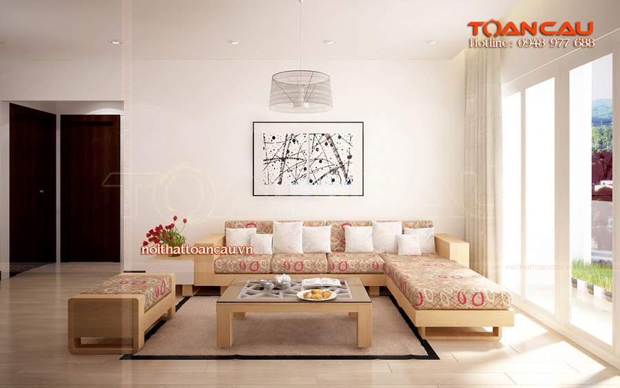 Nên sử dụng gỗ sồi Nga trong thiết kế nội thất phòng khách