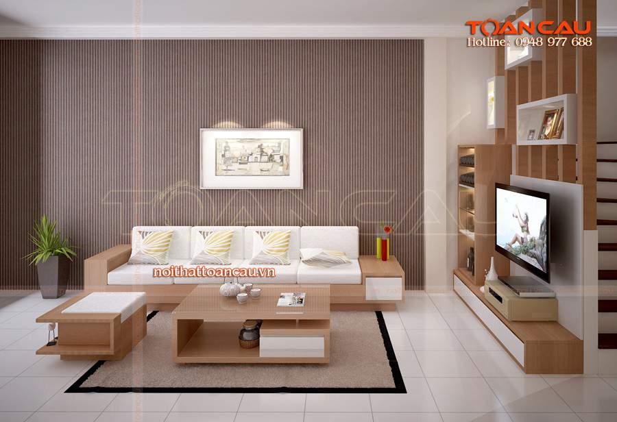 bộ bàn ghế phòng khách giá rẻ cho nhà chật chội