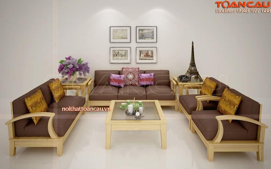 bộ bàn ghế gỗ phòng khách giá rẻ, bộ bàn ghế phòng khách giá rẻ rất nhiều món đồ