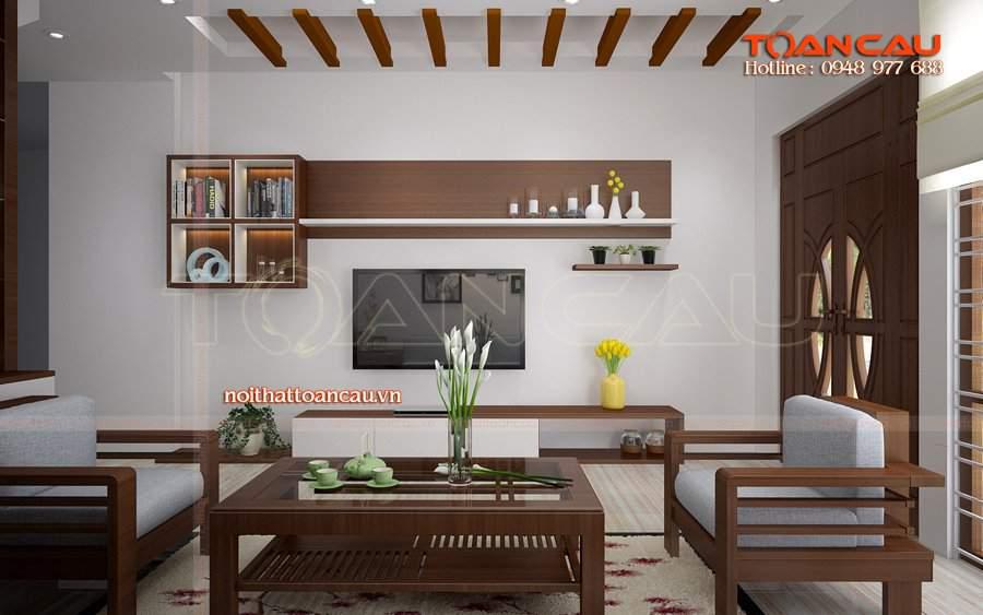 Bàn ghế phòng khách phong cách hiện đại thiết kế tại Công ty nội thất Toàn Cầu, chất lượng đảm bảo khi dùng