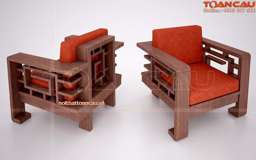 Ghế Sofa gỗ thiết kế bằng gỗ Sồi, gỗ tự nhiên nhập khẩu, độ bền lâu dài nhất hiện nay.