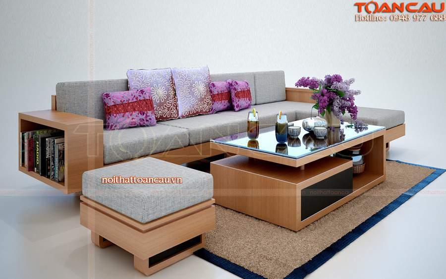 Sofa gỗ cho nhà nhỏ TC109