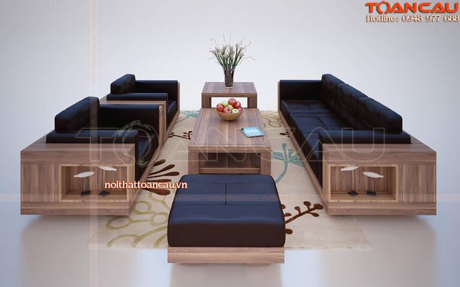 bàn ghế gỗ phòng khách giá rẻ tại hải dương hiện đại
