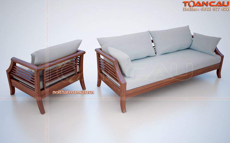 Bàn ghế gỗ phòng khách bán với giá rẻ tại Công ty nội thất Toàn Cầu