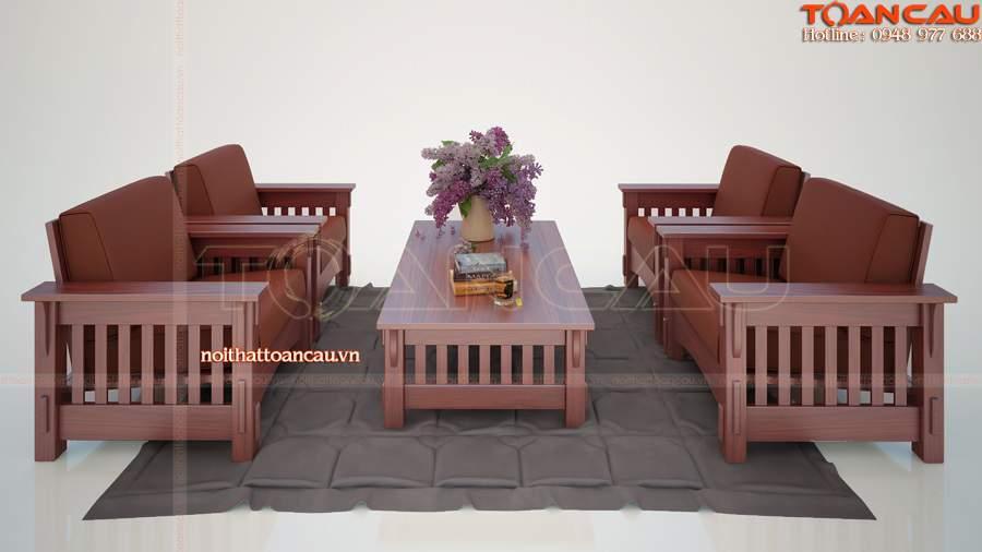 Mẫu bàn ghế gỗ trắc - TC101