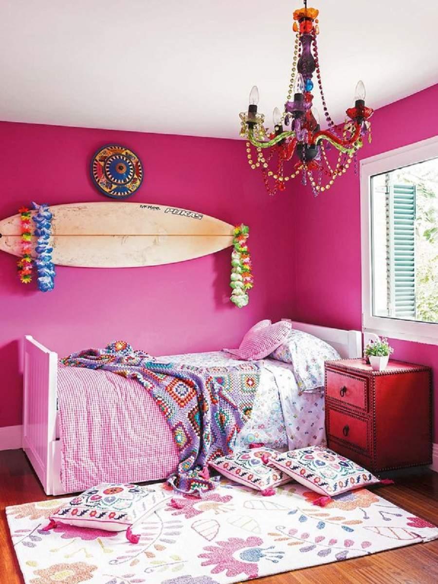 Thiết kế căn hộ 90m2 3 phòng ngủ cho căn phòng bé gái