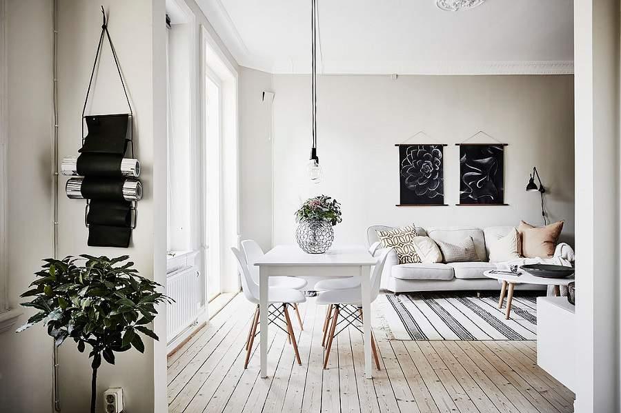 thiết kế căn hộ 90m2 2 phòng ngủ cho nhà sang