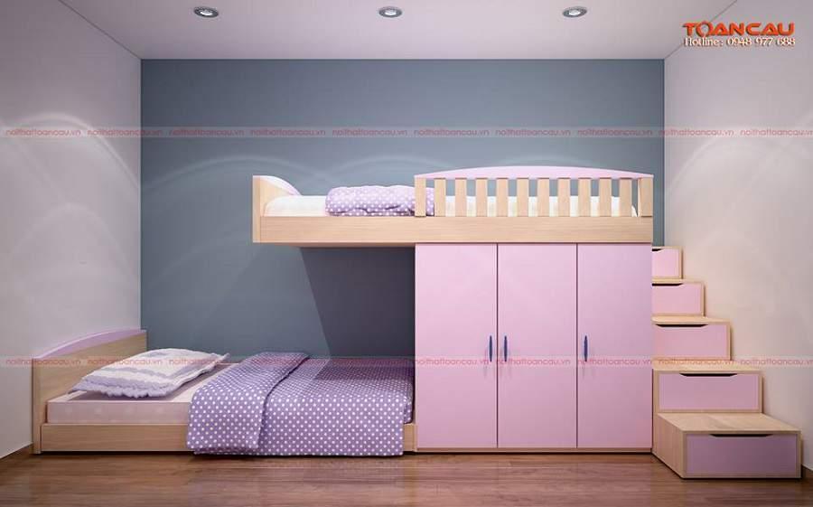 trang trí phòng ngủ cho bé gái những giường tầng tiện nghi