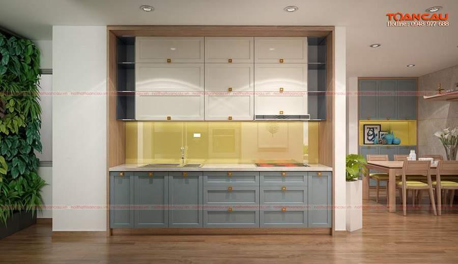mẫu nhà 1 tầng 2 phòng ngủ cho căn phòng bếp