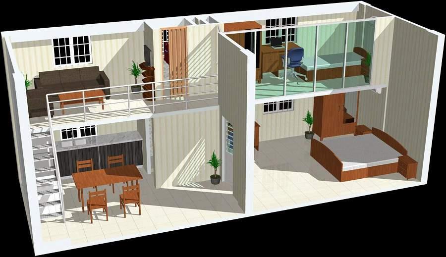 Thiết kế nhà cấp 4 có gác lửng 40m2 hiện đại