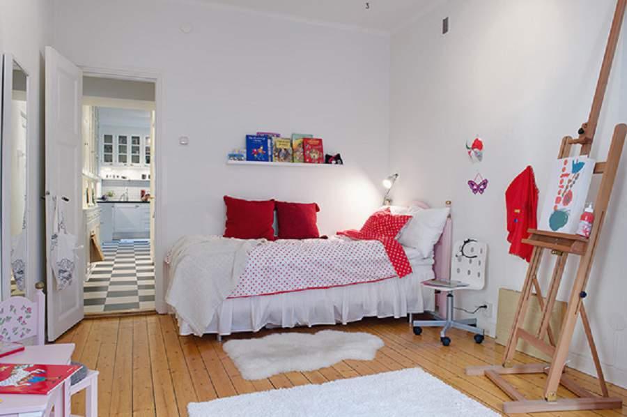 thiết kế nhà phố 24m2 cho giường ngủ của bé
