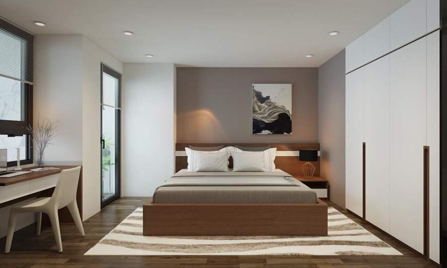 phòng ngủ 10m2 cho vợ chồng trẻ