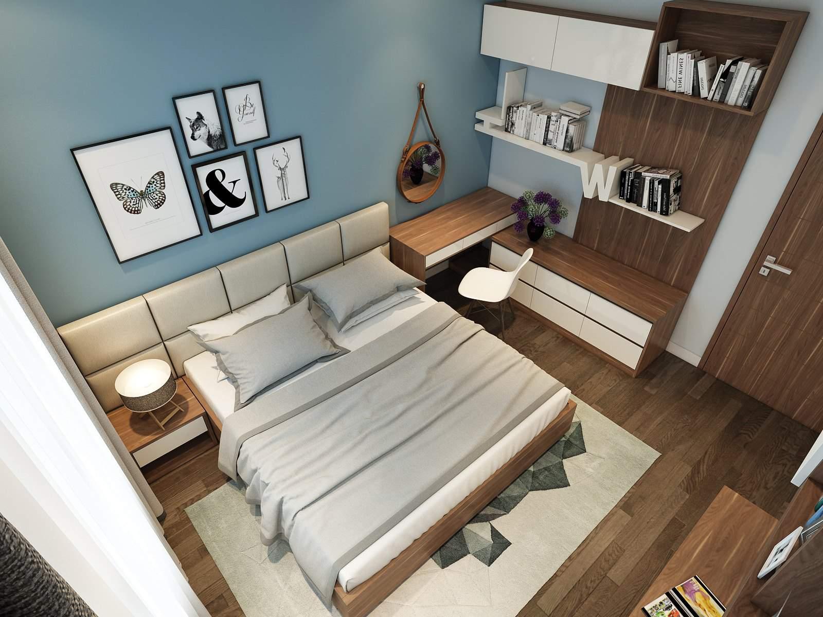 Mẫu thiết kế phòng ngủ đơn giản mà đẹp giúp tiết kiệm diện tích