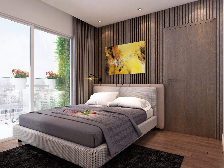 Mẫu thiết kế phòng ngủ đẹp hiện đại với nội thất cao cấp