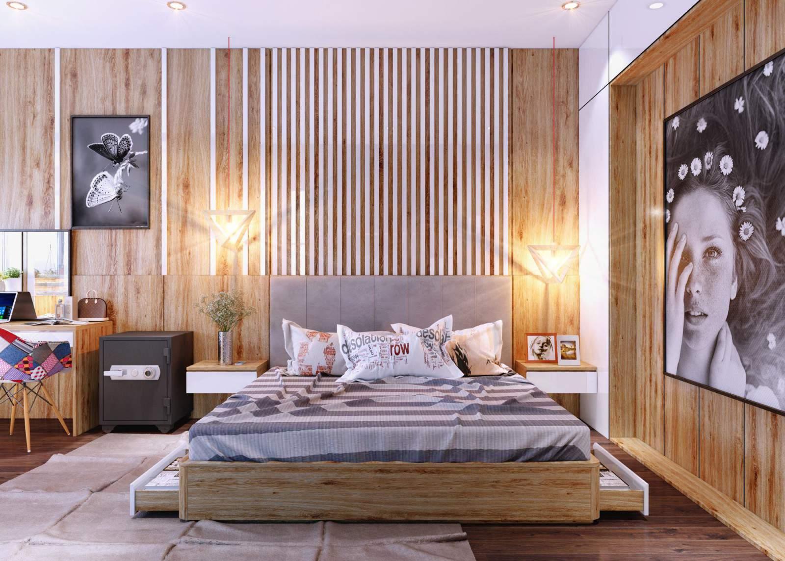 Thiết kế phòng ngủ nhỏ với nội thất thông minh