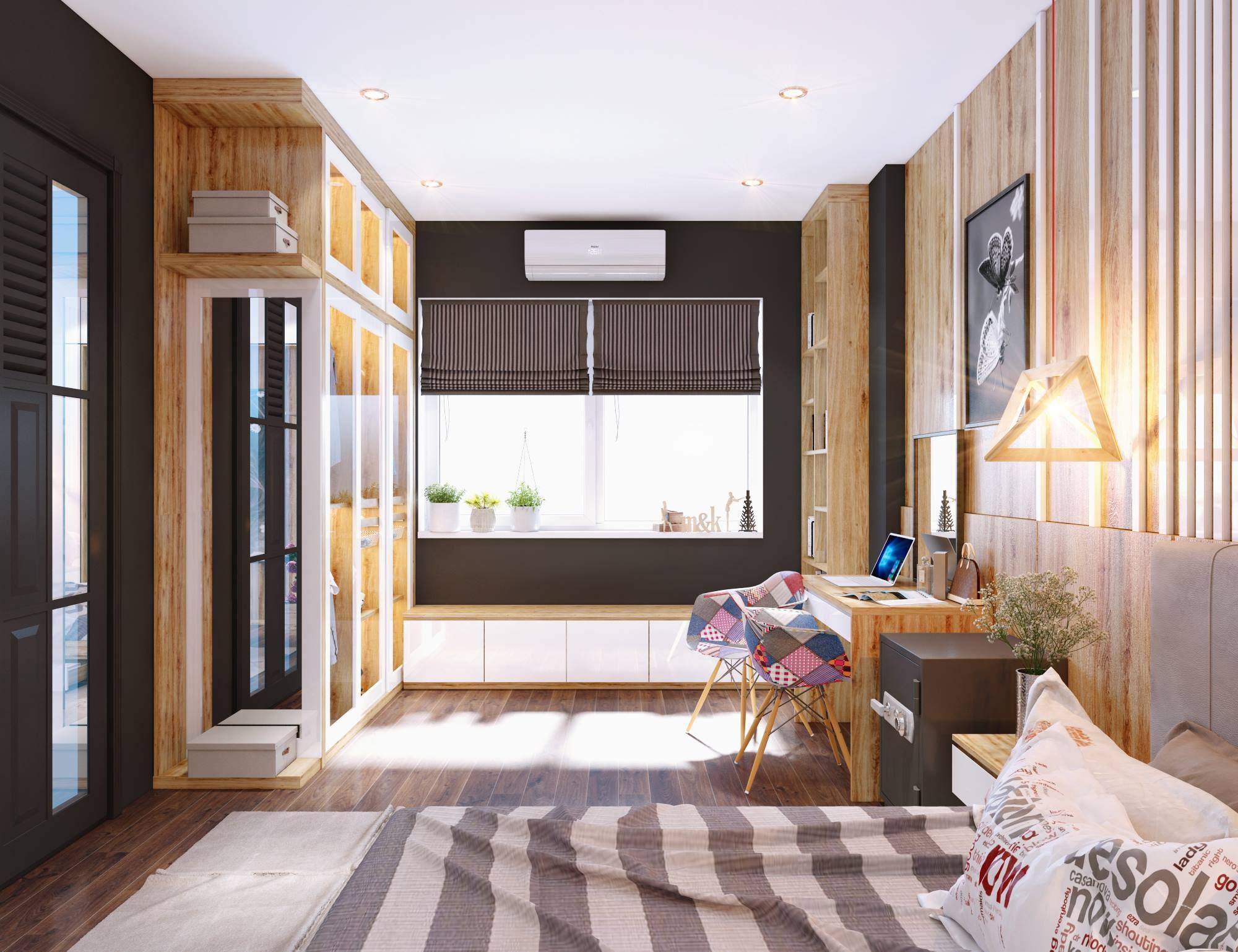Thiết kế phòng ngủ nhỏ với nội thất thông minh tiện nghi