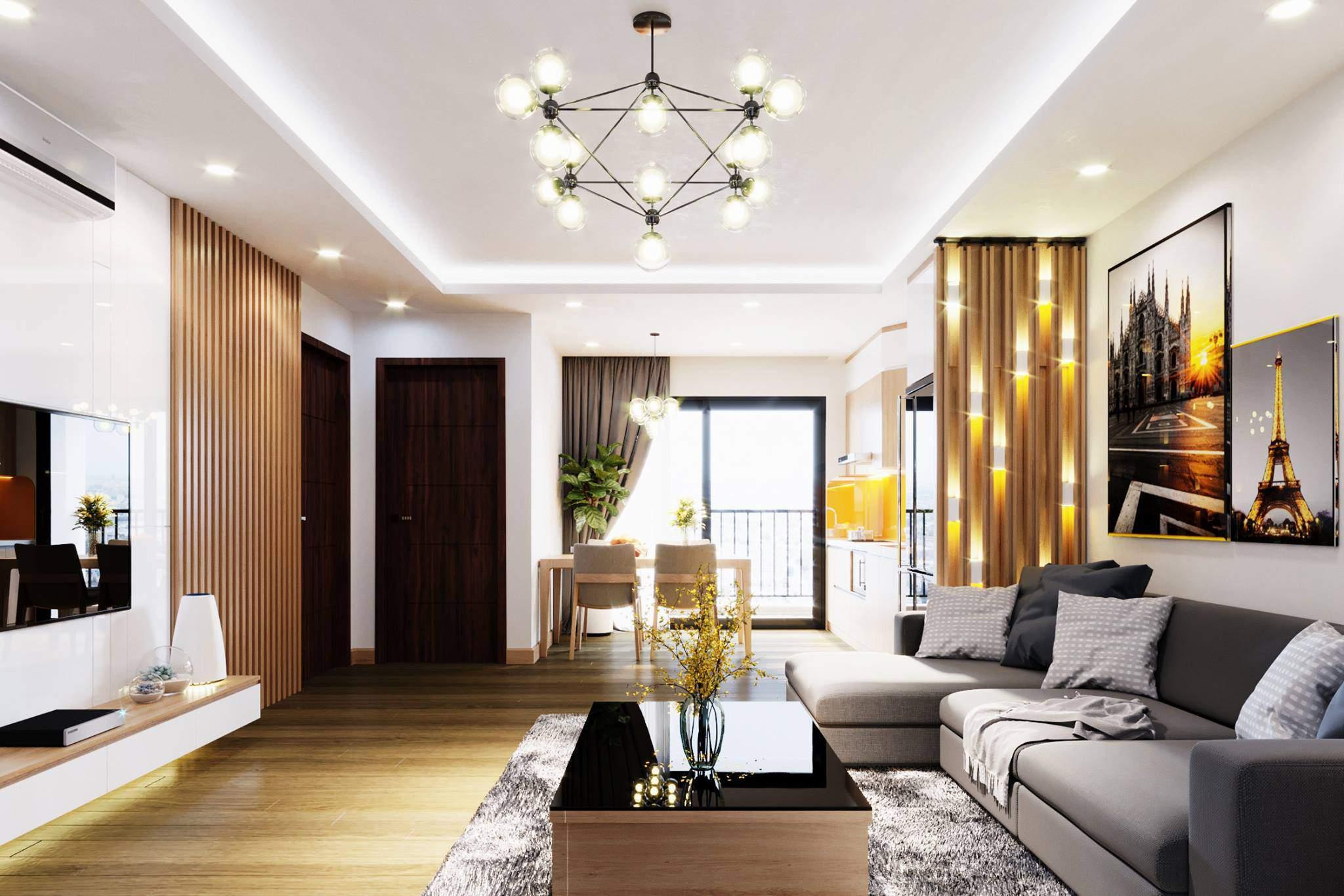 Mẫu trang trí phòng khách đơn giản tuyệt đẹp cho nhà chung cư