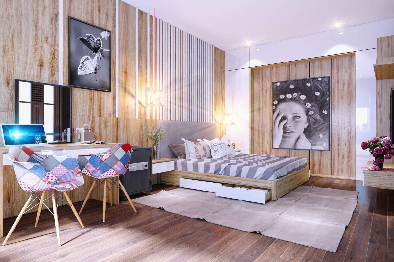 Mẫu phòng ngủ đẹp với thiết kế độc đáo mới lạ