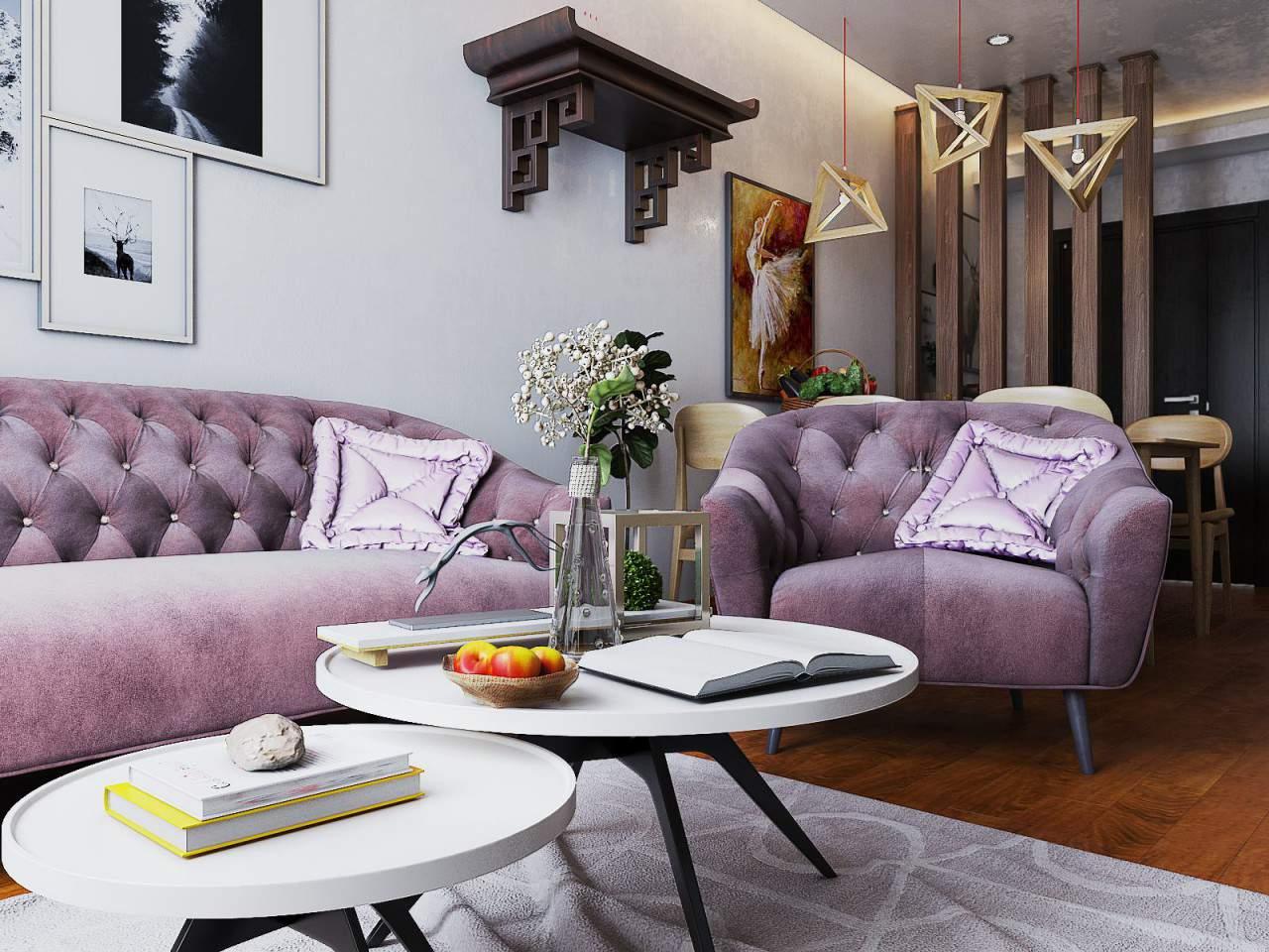 Trang trí nội thất phòng khách nhỏ đẹp và hiện đại