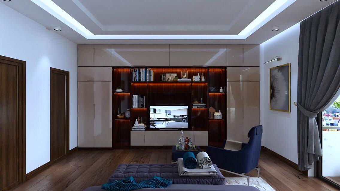 Mẫu thiết kế phòng khách nhà chung cư đẹp đẳng cấp