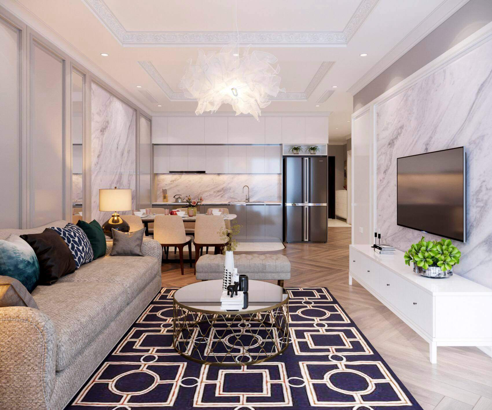 Trang trí nội thất đẹp và sang chảnh cho phòng khách