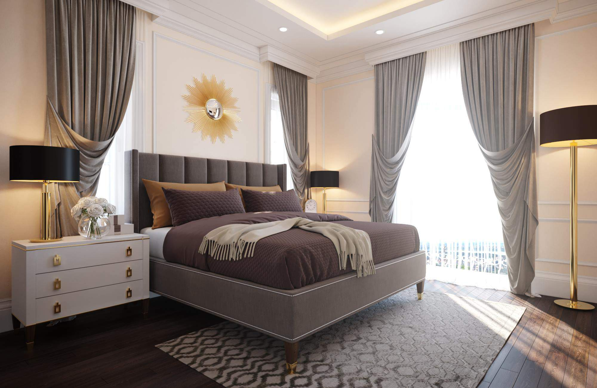 Mẫu thiết kế nội thất  phòng ngủ master đẳng cấp