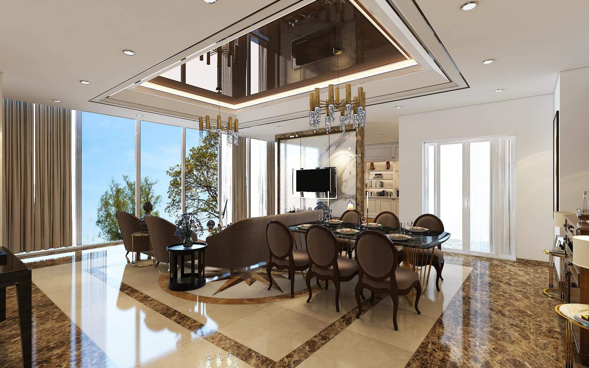 Mẫu thiết kế phòng khách đẹp và sang chảnh nhất hiện nay