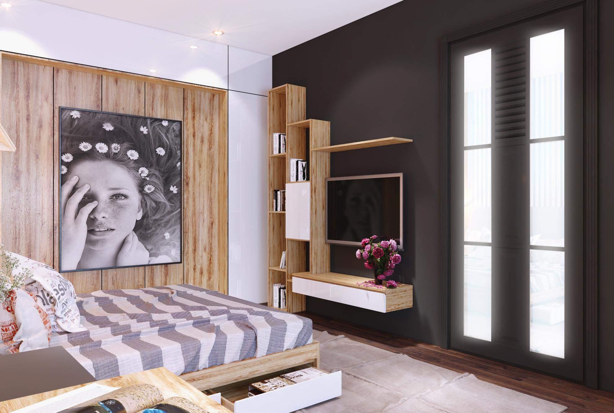 Mẫu thiết kế phòng ngủ nhỏ đơn giản mà đẹp