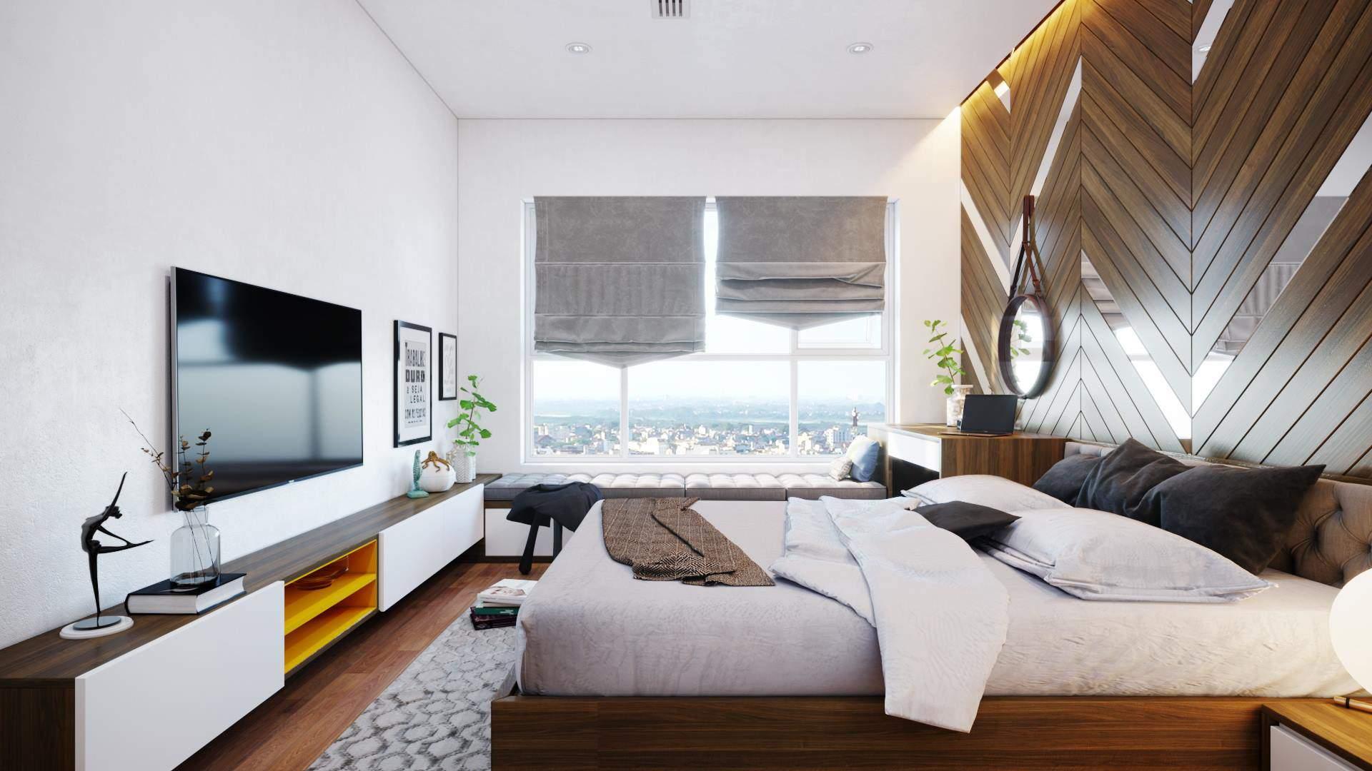Mẫu thiết kế phòng ngủ hiện đại theo phong cách Hàn Quốc
