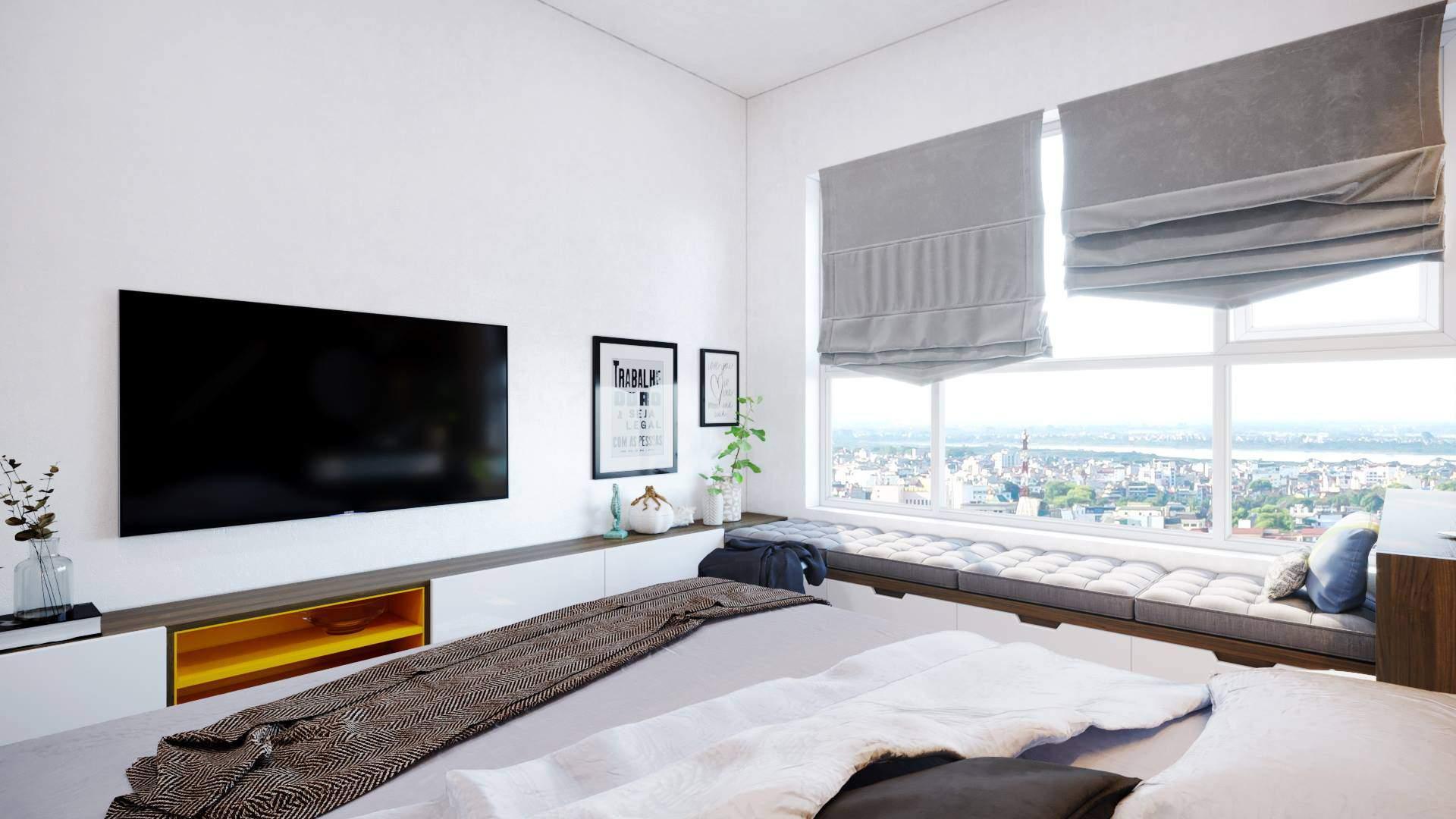 Mẫu thiết kế phòng ngủ đẹp mới lạ với gam màu hài hòa