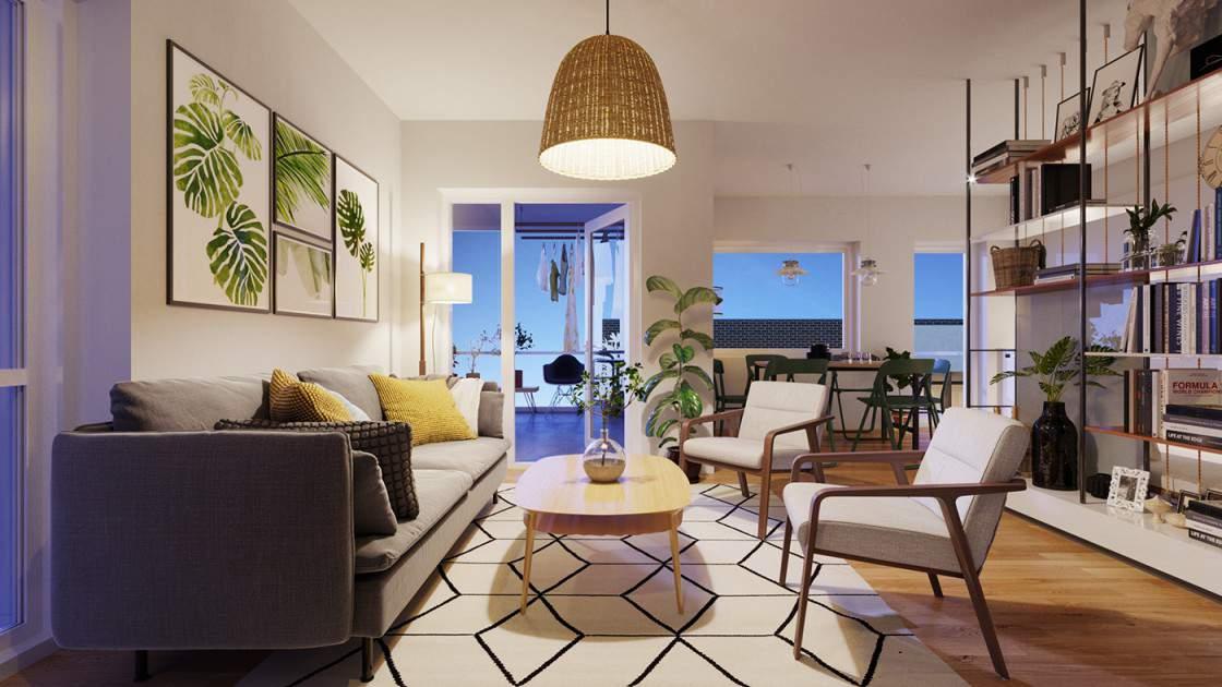 Mẫu thiết kế phòng khách nhỏ đẹp với gam màu mới lạ